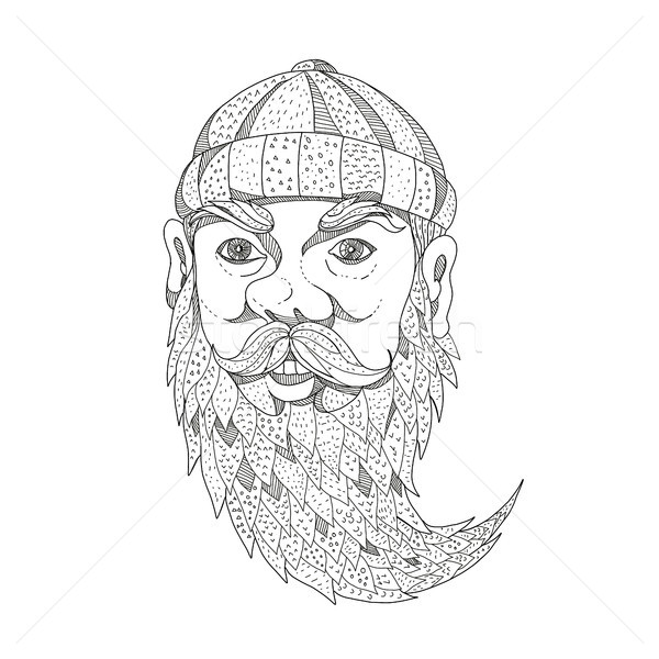 Paul Bunyan Lumberjack Doodle Art Stock photo © patrimonio