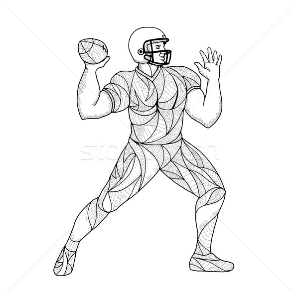 Quarterback Throwing Action Zentagle  Stock photo © patrimonio