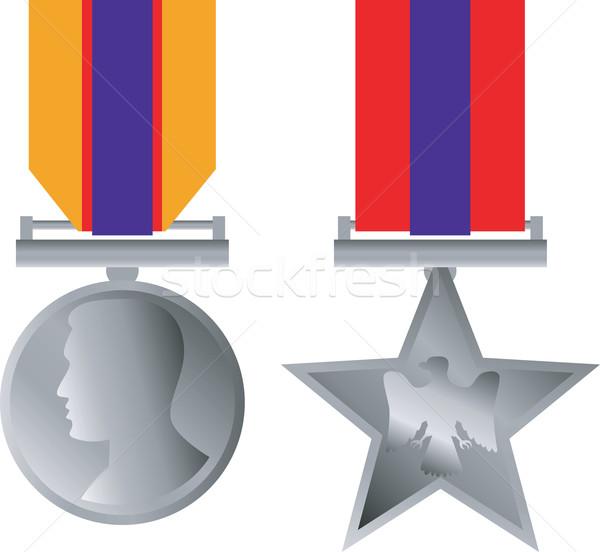 Militari medaglia onorare isolato illustrazione combattere Foto d'archivio © patrimonio