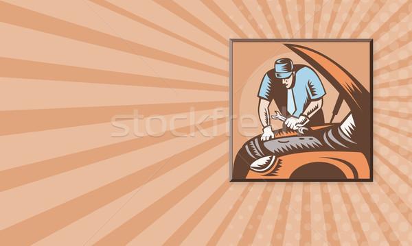 メカニック 自動車修理 実例 ストックフォト © patrimonio