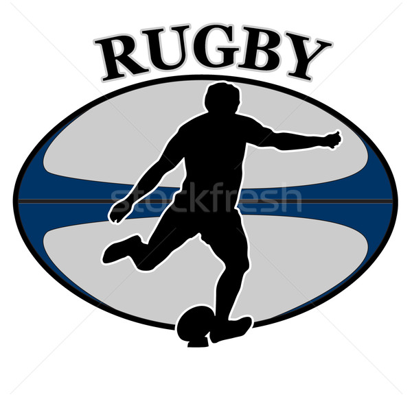 rugby player kicking ball Stock photo © patrimonio