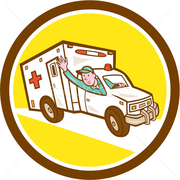 Ambulance urgence véhicule cartoon illustration Photo stock © patrimonio