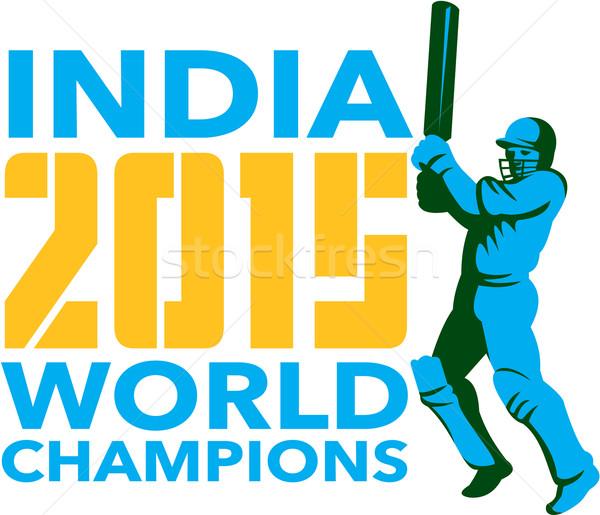 Índia críquete 2015 mundo isolado ilustração Foto stock © patrimonio