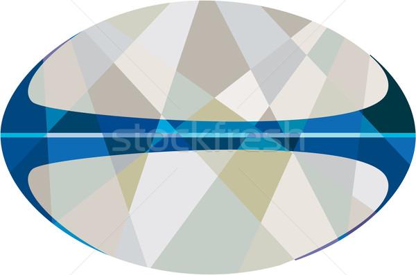 Ballon de rugby isolé faible polygone style illustration Photo stock © patrimonio