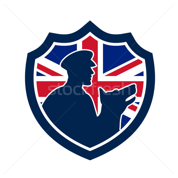 British Police Canine Team Crest Icon Stock photo © patrimonio
