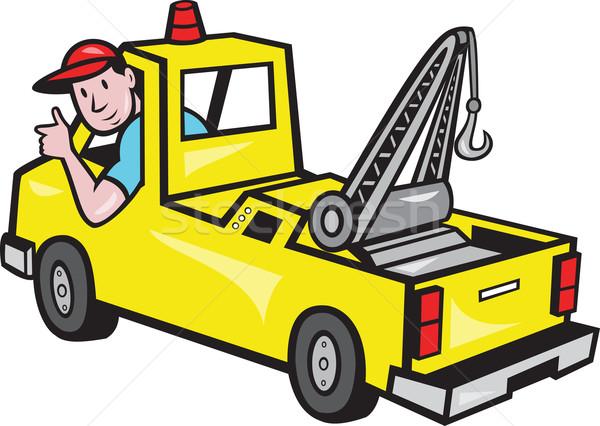Tow Wrecker Truck Driver Thumbs Up Stock photo © patrimonio
