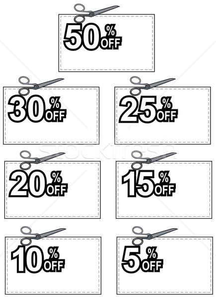 Scissors Cutting Coupon Per Cent Sign Stock photo © patrimonio