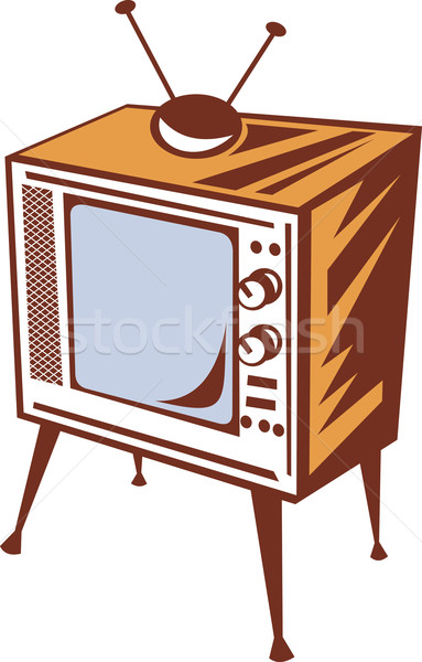retro styled televsion set Stock photo © patrimonio