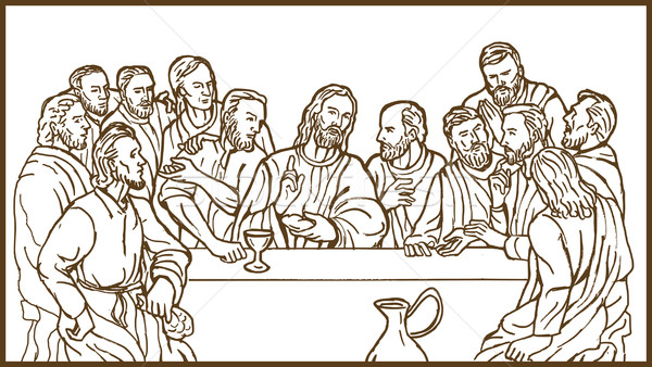 last supper Jesus Christ savior disciples apostles Stock photo © patrimonio