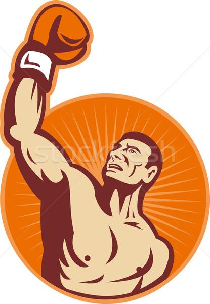 Boxer punching fist up the air  Stock photo © patrimonio