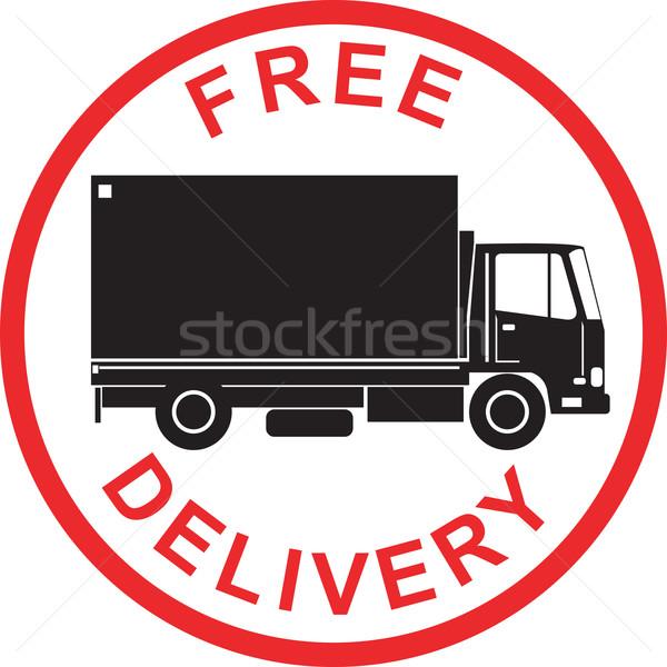 Kamyon Retro örnek teslim kamyon kamyon Stok fotoğraf © patrimonio