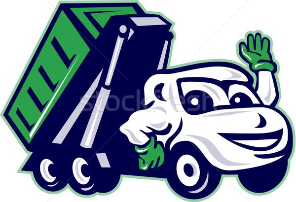 Tároló teherautó integet rajz illusztráció elöl Stock fotó © patrimonio