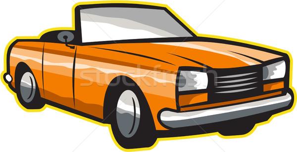 Vintage cabriolé coche aislado retro ilustración Foto stock © patrimonio