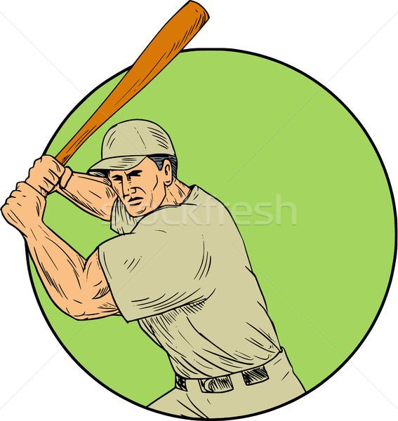 Piłkarz postawa kółko rysunek szkic stylu Zdjęcia stock © patrimonio