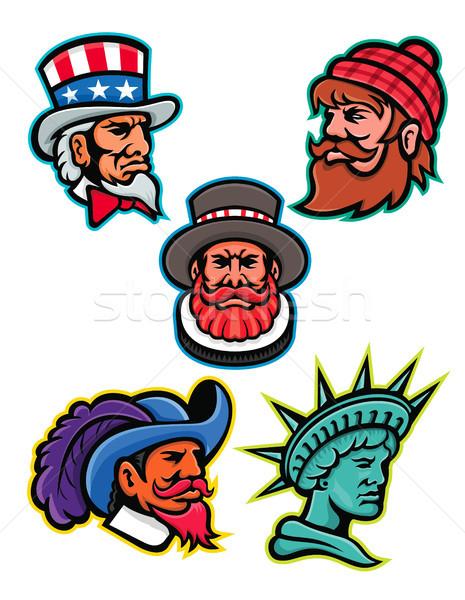 American and British Mascots Collection Stock photo © patrimonio