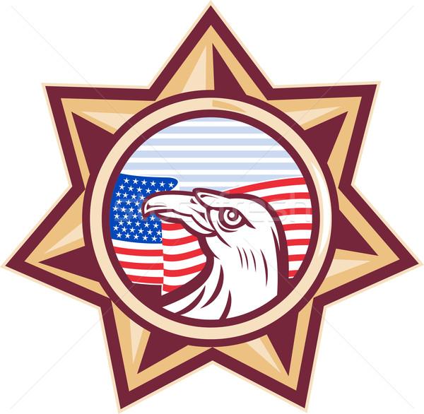 Amerykański orzeł gwiazdki banderą star Zdjęcia stock © patrimonio