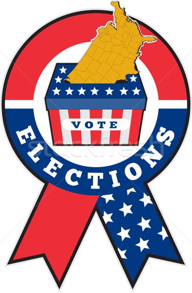 Amerikan seçim oylama kutu harita ABD Stok fotoğraf © patrimonio