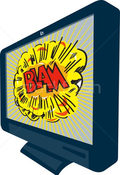 LCD osoczu telewizja telewizji ilustracja telewizor Zdjęcia stock © patrimonio