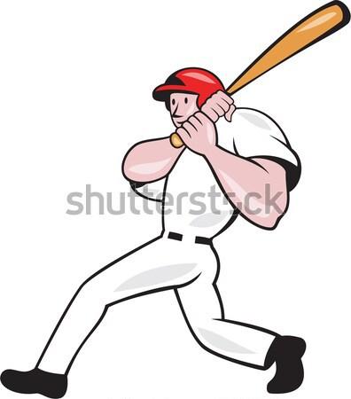 Americano jogador de beisebol ilustração bola fogo Foto stock © patrimonio
