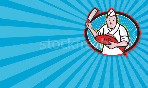 Японский мясник повар Кука иллюстрация Сток-фото © patrimonio