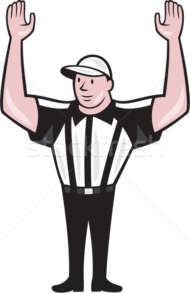 American Football Referee Touchdown Cartoon Stock photo © patrimonio