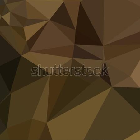 Caput Mortuum Brown Abstract Low Polygon Background Stock photo © patrimonio