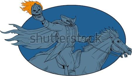 Vracht boot kuif cartoon illustratie Stockfoto © patrimonio