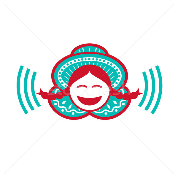 Stock photo: Peruvian Girl Smiling Voice Icon