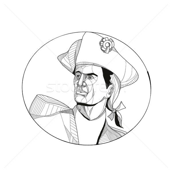 Americano patriota garabato arte ilustración soldado Foto stock © patrimonio