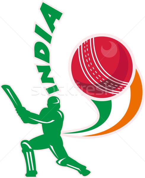 cricket sports batsman batting India Stock photo © patrimonio