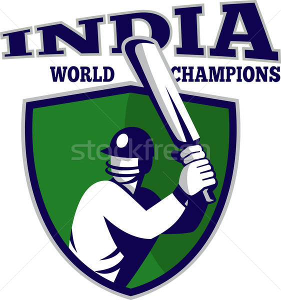 cricket player batsman shield India world champions Stock photo © patrimonio