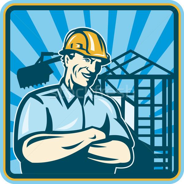 Construction Engineer Foreman Worker Stock photo © patrimonio