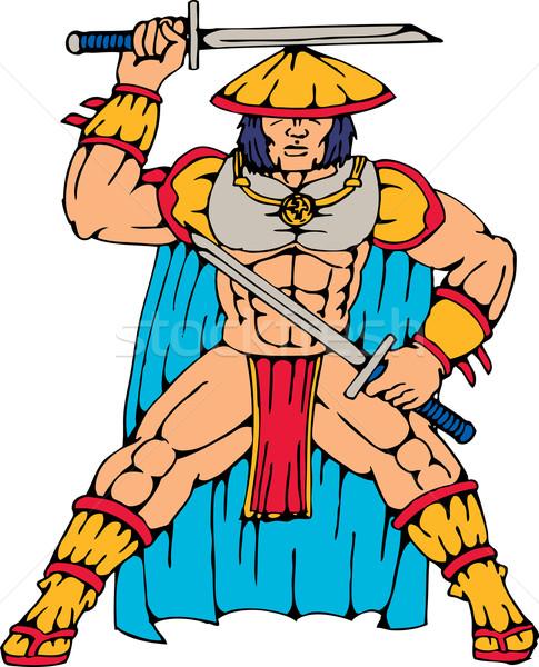 Samurai guerreiro em pé ilustração Foto stock © patrimonio