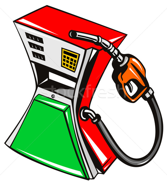 Fuel Pump Station Nozzle Retro Stock photo © patrimonio