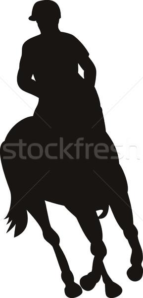 Equestrian Show Silhouette Stock photo © patrimonio
