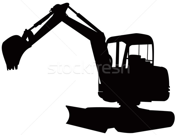 Mechanical Digger Excavator Retro Stock photo © patrimonio