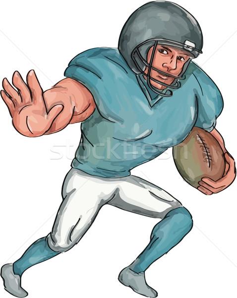 Americano futbolista brazo caricatura ilustración Foto stock © patrimonio