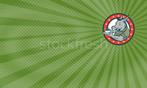 сержант кофе карт визитной карточкой иллюстрация Сток-фото © patrimonio