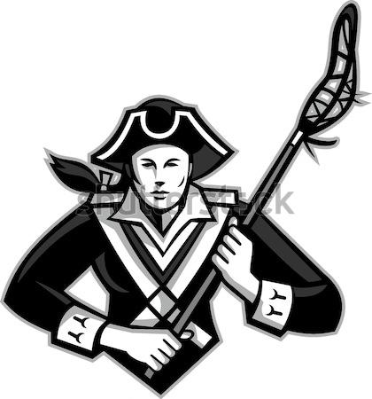 Amerykański patriota stylu ilustracja karabin Zdjęcia stock © patrimonio