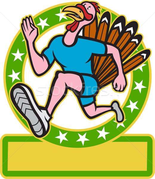 Turkey Run Runner Side Cartoon Stock photo © patrimonio