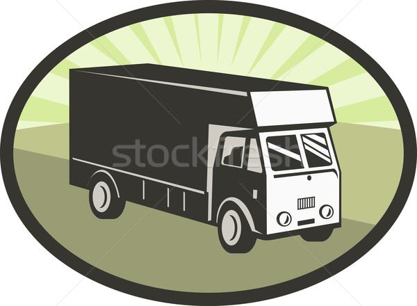 delivery van retro style Stock photo © patrimonio