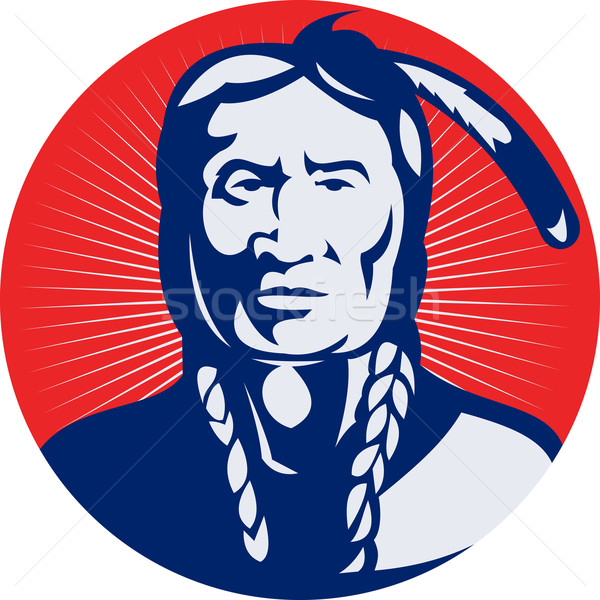 native american indian chief facing front  Stock photo © patrimonio