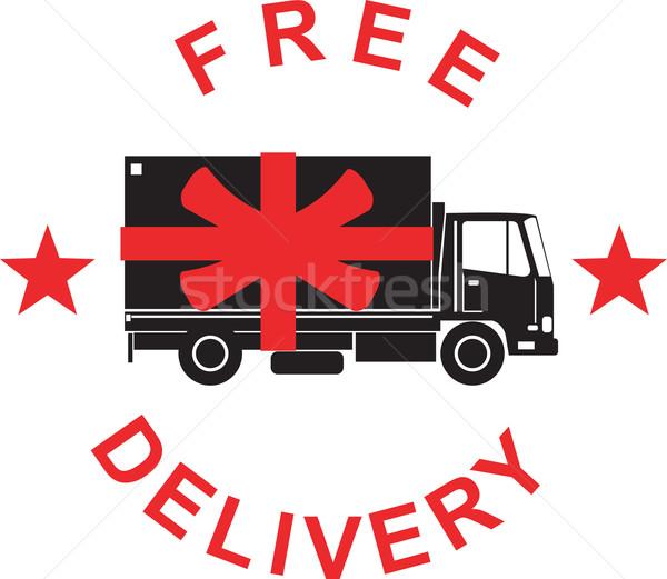 Camión retro ilustración camión de reparto camión Foto stock © patrimonio