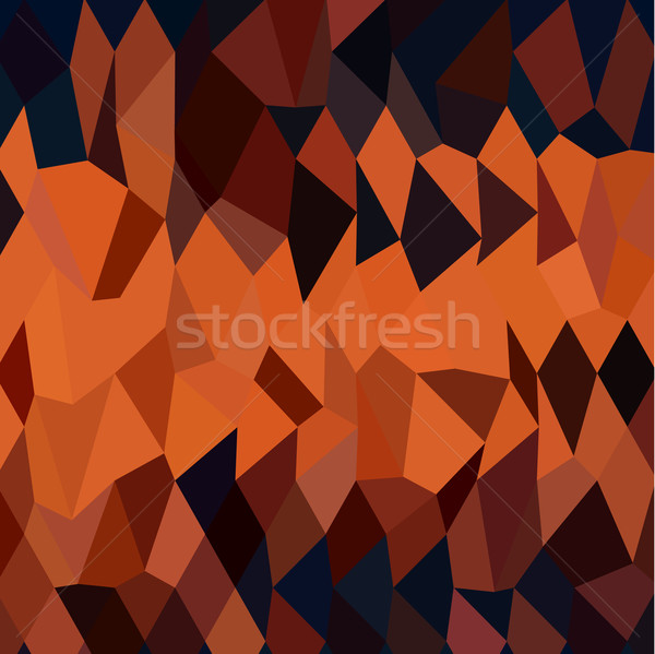 Persimmon Orange Abstract Low Polygon Background Stock photo © patrimonio