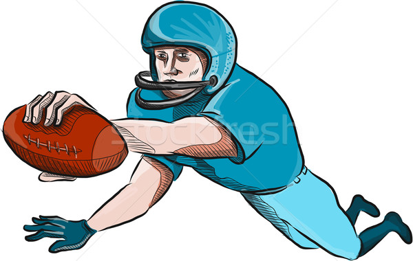 American Football Player Touchdown Drawing Stock photo © patrimonio