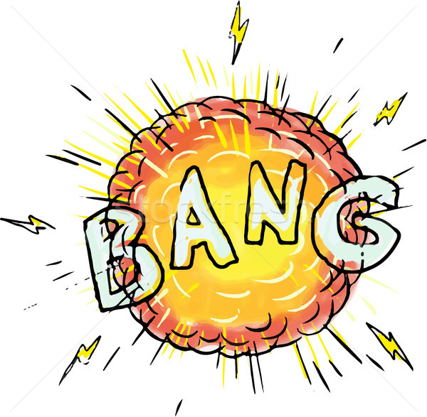 Explosion Bang Cartoon Stock photo © patrimonio