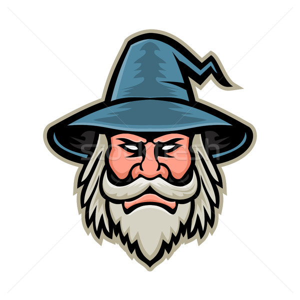Wizard Head Mascot Stock photo © patrimonio