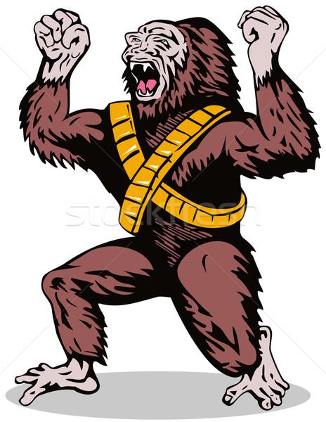 Bösewicht böse Illustration fremden Monster Gorilla Stock foto © patrimonio