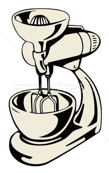 Cocina stand mezclador ilustración aislado blanco Foto stock © patrimonio