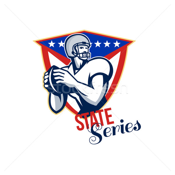 American Football Quarterback State Series Stock photo © patrimonio